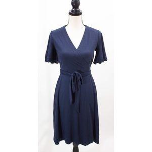Ann Taylor Navy Blue Wrap Dress Size 4